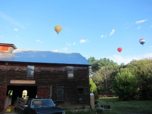 Crimson and Clover Farm | Barn under Balloons